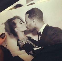 Kim's personal photos of Chrissy Teigen and John Legend kissing