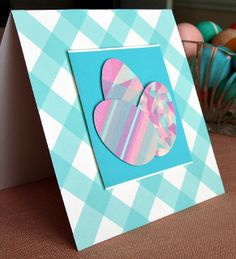 Washi Tape Easter Eggs Card by all things paper, via Flickr