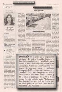 La Provincia / 18 de noviembre de 2003 LA PROVINCIA / DIARIO DE LAS PALMAS Martes 18 de noviembre de 2003 EL RETROVISOR Fernando Multitud  EXPOSICIÓN.   URL http://www.artemorilla.com/index.php?ci=123