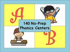 No-Prep Kindergarten Literacy Centers: Letters and Consonant Blends
