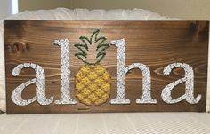 CUSTOM Aloha Pineapple String Art Welcome Sign by KiwiStrings