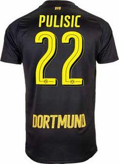 b8c791291 Puma Christian Pulisic Borussia Dortmund Away Jersey 2017-18 - SoccerPro.com