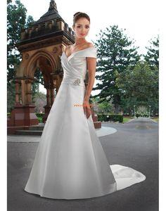 Court Släp Glamorös & Dramatisk Dragkedja Bröllopsklänningar 2014