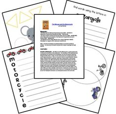 The Mouse and the Motorcycle ~ Free Printables