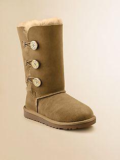 UGG Australia Kid's Bailey Button Sheepskin Boots, my daught in UGGS?