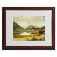 Wind River Country by Albert Bierstadt Matted Framed Painting Print