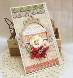shabby lace pretty lovely card