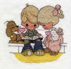 Free Printable Cross Stitch Patterns | Precious Moments from PM-3 (1982, out ofprint)