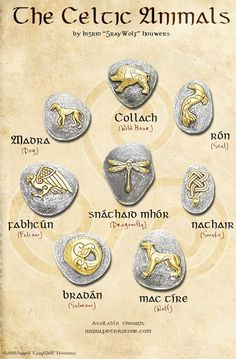 On request, a picture that contains all the designs in one image. This is the Celtic Animals range, containing some lesser re-presented animals of Celti. The Celtic Animals