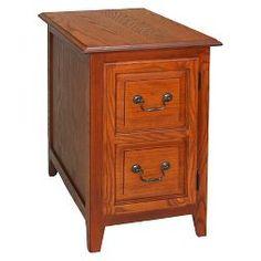 Favorite Finds Shaker Cabinet End Table Medium Oak - Leick Furniture