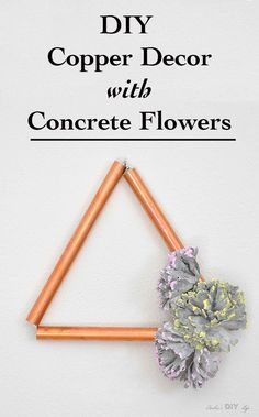 Easy DIY Copper decor with concrete flowers- Video tutorial