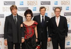 Helena Bonham Carter Colin Firth Photos - (L-R) Director Tom Hooper, Helena Bonham Carter, Colin Firth and Geoffrey Rush attend the American Express Gala Screening of 'The King's Speech' during the 54th BFI London Film Festival at the Odeon Leicester Square on October 21, 2010 in London, England. - The Kings Speech - Gala Screening:54th BFI London Film Festival
