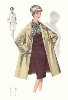 1965 Fashion Pictures - 1960s Fashion Drawings Tailleur Plates