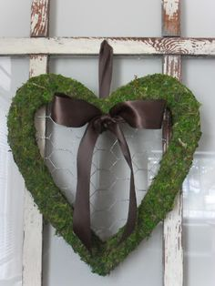 moss heart wreath
