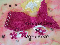 Crochet Mermaid Tail Newborn Photography Prop Set www.etsy.com