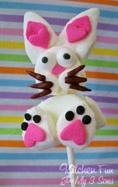 Simple Bunny Marshmallow Pops