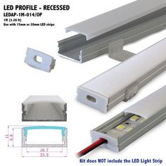 Wholesale LED aluminum extrusion for flexible led strip 5050 5630 2835 aluminum alloy shell housing Hidden Lighting, Suspended Lighting, Strip Lighting, Interior Lighting, Home Lighting, Modern Lighting, Lighting Design, Led Light Strips, Led Strip