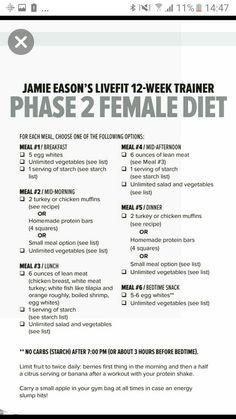 Phase 2 diet