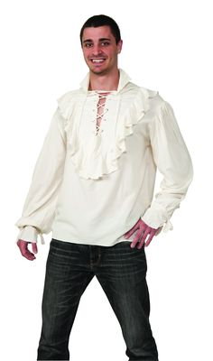 Natural Gauze Pirate Shirt Natural colored gauze Pirate Shirt.