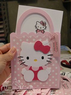 Hello Kitty InvitationsTap the link to check out great cat products we have for your little feline friend! Sanrio Hello Kitty, Bolo Da Hello Kitty, Hello Kitty Crafts, Hello Kitty Theme Party, Hello Kitty Themes, First Birthday Party Themes, Birthday Cards, Birthday Parties, Decoracion Hello Kitty