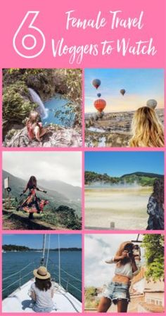I love seeing and hearing about inspirational women traveling around the world. Check out these 6 female travel vloggers who are living the dream. Save this to your travel inspiration board!