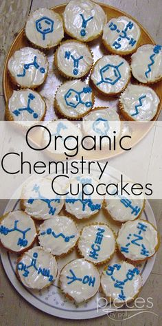 """Pieces by Polly: """"Organic"""" Chemistry Cupcakes for Mole Day o… – Birthday Ideas Science Cake, Science Party, Mad Science, Lemon Desserts, Lemon Recipes, Chemistry Cake, Cupcake Recipes, Cupcake Cakes, Mole Day"""