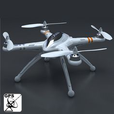 [USD216.95] [EUR201.18] [GBP155.64] GPS Multi-channels UFO Airplane Compatible with GoPro Camera, Basic Version Two (QR X350)(White)