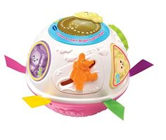 From 10.03:Vtech Baby Crawl And Learn Lights Ball - White And Pink