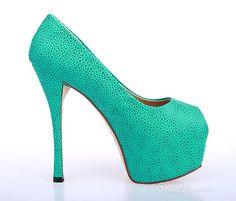 Fabulous Spotted #Stilleto Heels Peep-toe Women Sandals