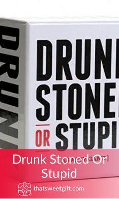 Drunk Stoned Or Stupid Gamer Gifts, Stupid, Party Supplies, Handmade Items, Geek Stuff, Feelings, Stone, Amazon, Geek Things