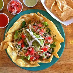 Lunch at El Chubasco! Loved the taco salad, guacamole, and killer salsa bar! The boys give the churros  @visitparkcity Park city, UT