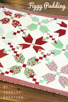 Figgy Pudding quilt pattern by Vanessa Goertzen of Lella Boutique.  Fabric is Into the Woods for Moda. 10 fat quarters