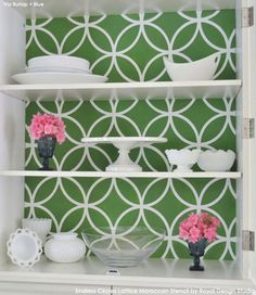 Moroccan Stencils | Endless Circles Lattice | Royal Design Studio