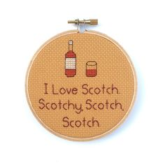 I love Scotch. Scotchy, Scotch, Scotch - Anchorman Cross Stitch by BananyaStand on Etsy (newly redesigned!)