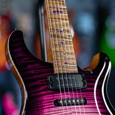 2021 PRS Private Stock Modern Eagle V Midnight Orchid Glow | Reverb Guitar Inlay, Guitars, Orchids, Eagle, Glow, Smoke, Modern, Trendy Tree, Sparkle