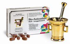 Pharma Nord Bio Antioxidant 2.4  150 tabletten - Bio-Antioxidant is een hooggedoseerde multi, die helpt om gezonde weefsels en cellen te beschermen tegen oxidatieve schade die kan ontstaan door bijvoorbeeld luchtvervuiling en de UV straling van de zon. Deze hooggedoseerde beschermende multi bevat 18 vitale vitaminen en mineralen. In een test van de Consumentenbond kreeg het een 9,3 als rapportcijfer. Een goede bescherming van het hele lichaam vanaf 26 cent per dag.