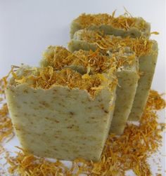 This is my version of a gardener's soap. They are usually soaps that are effectively cleansing, scrubby and yet moisturizing. This one ha...