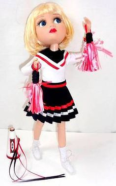 """Tonner PEP SQUAD PATIENCE Wilde 14"""" Doll Clothes Cheerleader Pom Poms Megaphone"""