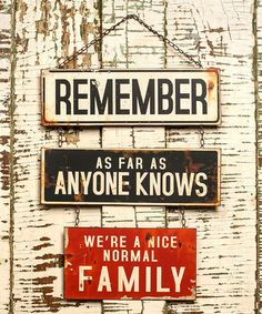This 'Normal Family' Wall Sign is perfect! #zulilyfinds
