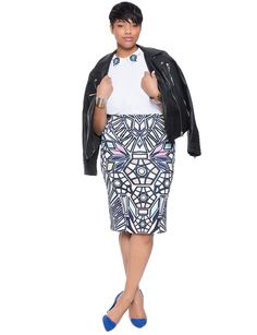 Stained Glass Pencil Skirt | Women's Plus Size Skirts | ELOQUII
