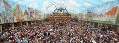 Oktoberfestbesucher feiern 2014 im Hacker-Pschorr Festzelt. (Quelle: dpa)