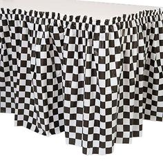 This Black and White Check Table Skirt will dress your party tables for race day or any fifties party. This Black and White Check Table Skirt will dress your party tables for race day or any fifties party. White Plastic Table, Plastic Tables, Fifties Party, Retro Party, Diner Party, 50s Theme Parties, Party Themes, Party Ideas, Theme Ideas