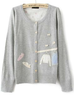 embroidered cardigan <3