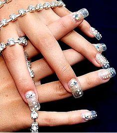 Nail art designs bridal nail by TARIKISA