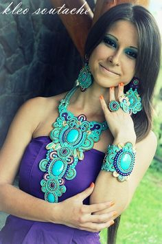 Sutasz Kleo /Soutache jewellery: Joscha...india dream.