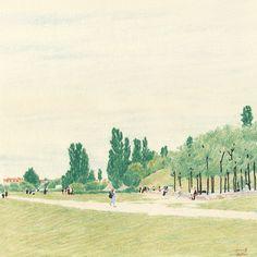 park, drawing