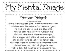 mental image- read story while students close their eyes and visualize character. Read through again and have students illustrate a picture to go with the story.