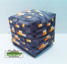 NEW Minecraft Inspired Gold ore plush toy by CraftingNerdy on Etsy, $5.99