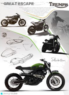 Triumph Concepts by Design Cube #motorcyclesdesign #diseñodemotos | caferacerpasion.com