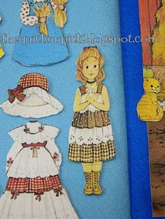 "fabric and felt ""paper"" dolls"